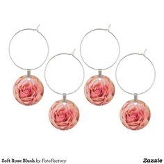 Soft Rose Blush Wine Charm