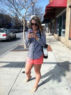 Denim Fashion, Fashion Outfits, Summer Outfits, Cute Outfits, Pink Shorts, Preppy, Spring Fashion, Nice Dresses, Style Me