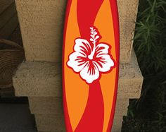 Hawaiian Art, Hawaiian Flowers, Surfboard Decor, Palm Tree Vector, Surf Boards, Beach Room, Skateboard Art, Tiny House On Wheels, Lanai