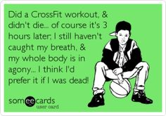 CrossFit is intense. Laugh a little about the sometimes tortuous workout experience with this CrossFit humor. Crossfit Memes, Crossfit Motivation, Crossfit Games 2016, Crossfit Baby, Crossfit Shirts, Nike Crossfit, Gym Memes, Motivation Quotes, Gym Humor