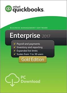 QuickBooks Desktop Enterprise 2017 Gold Edition Business Accounting Software 5-User [PC Download]