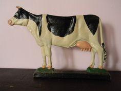 Vintage Cow Cast Iron Door Stop