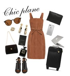 """""""En route ! ✈"""" by deblicy ❤ liked on Polyvore featuring Ray-Ban, Givenchy, Chanel, MICHAEL Michael Kors, Kate Spade, M.i.h Jeans, Christian Dior, Bottega Veneta and Speck"""