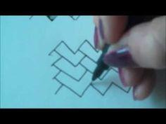 How to draw tanglepattern Jute - YouTube