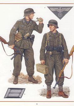 German Army Grenadiers 1944-45 Landser Books