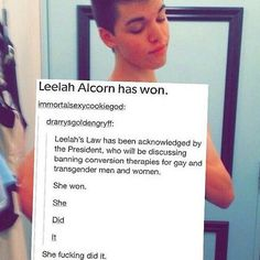 *RUNS AROUND SCREAMING* SHE DID IT. Leelah Alcorn