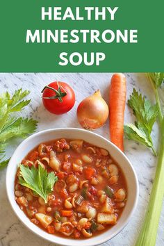 Soup and pasta make the perfect mix and this healthy Minestrone soup won't disappoint! A one pot wonder that's filled to the brim with veggies and is ready in under an hour. Why not make it tonight? #minestronesoup #healthysoup #souprecipes #onepotmeals #wintermeals