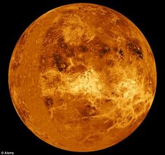 Venus, as mapped by Nasa's Magellan probe: The probe used radar to map the planet's surface before plunging into Venus's hellishly hot atmosphere