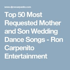 Thinking of having a Mother and Son Wedding Song at your wedding ...