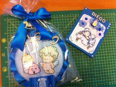 DIY - Craft & Scrap  Fiocco nascita e card per un maschietto DIY - Craft & Scrap  bow birth and card for a baby boy