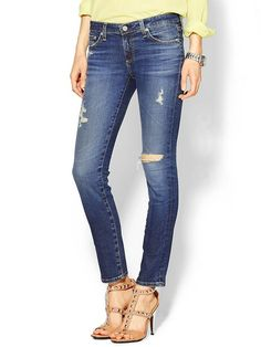 An amazing pair of distressed denim will get your summer started on the right foot. #fashion #style
