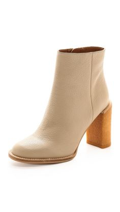 Yea, me and the 60s cream boots. easy on the eyes, easy to wreck. See by Chloe Crepe Heel Booties