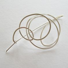 Squiggle Brooch by Dot Sim