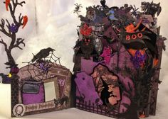 Tim Holtz Halloween | annes papercreations: Recollections spooky castle Halloween mini album