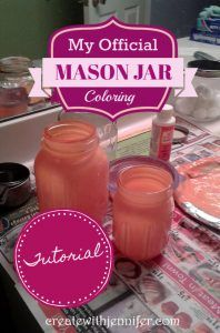 This DIY tinted mason jars tutorial will show you how to give plain clear jars a splash of color.just like the pretty blue ones in the good ol' days! Tinted Mason Jars, Colored Mason Jars, Mason Jar Crafts, Mason Jar Diy, Soap Dispensers, Painted Jars, Ol Days, Creating A Blog, Good Ol