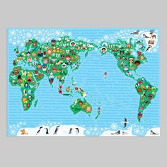A High Detail Political Vector Map Of The Whole World With A - Map of the whole world with names