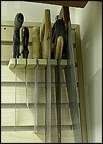Instructions for building the Hand Tool Storage Rack These hand tool storage racks can be built to the size that best fits various woodshop layouts and available wall space. The ones pictured on th…