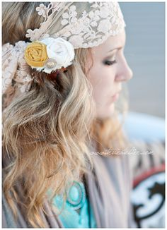Scarf and a hair clip.  So easy...could be a day or an evening look #lolabyginapayne www.lolabyginapayne.com