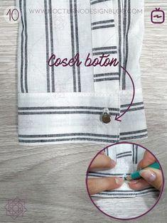 Cómo coser un puño con portañuela – Nocturno Design Blog Make Your Own Clothes, Sewing Lessons, Design Blog, Sewing Techniques, Lily, Menswear, Make It Yourself, How To Make, Cilantro