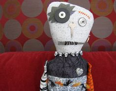 Voodoo Zombie Monster Art Doll  Halloween OOAK by WickedlyCreative, $40.00