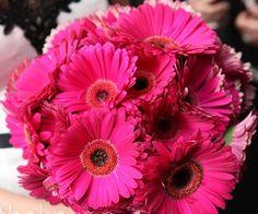 Fuchsia floral centerpiece