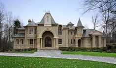 french country home estates photos | French Country Luxury Chateau, Alpine New Jersey