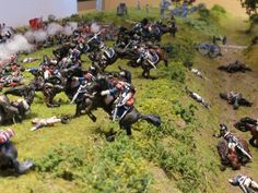 Battle of Waterloo.  French cuirassiers reach the Allied squares.  Les plus beaux et grands dioramas trouvés sur le net ! (4)
