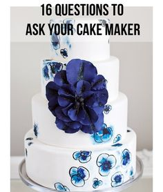 16 Questions to Ask Your Wedding Cake Maker
