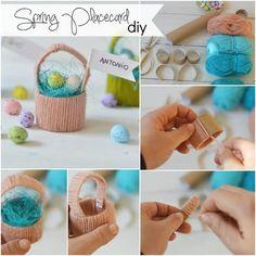 Segnaposto diy: un cestino primaverile Diy Crafts For Tweens, Diy For Kids, Cheap Hobbies, Hobbies And Crafts, Ester Decoration, Ester Crafts, Easter Activities, Kids Corner, Craft Work