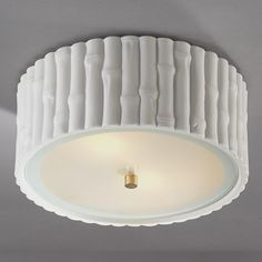 Bamboo Ceiling Light Bamboo Ceiling Light: Bamboo goes hip, retro, modern and traditional! White ceramic bamboo rim and frosted glass diffuser form a novel impression for your ceiling.