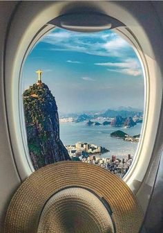 Christ The Redeemer, Rio 2016, Airplane View, To Go, God, Places, Dios, Allah, Lugares