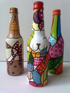 garrafas decoradas de natal - Pesquisa Google