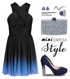 """""""Chiffon mini dress for holidays"""" by muse-charming ❤ liked on Polyvore featuring Trilogy, Jimmy Choo, Halston Heritage, Edie Parker, Malaika, Clinique, Urban Decay and NARS Cosmetics"""