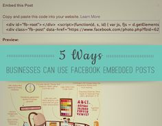 Facebook recently announced a new feature that allows users to embed their Facebook posts outside of the social network. Embedded posts allow users to take their posts from their Facebook Page and embed them onto …
