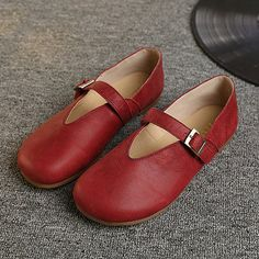 Hot-sale Socofy Hollow Out Buckle Leather Soft Flat Casual Slip On Loafers - NewChic Mobile