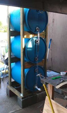 Build a 3 drum rain collection system better