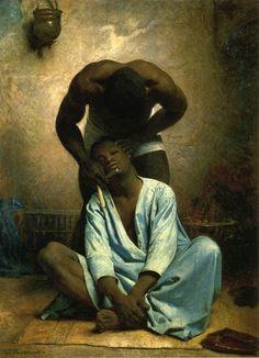 Leon Bonnat, French, Barber of Suez 1876, 80 x 58.42 cm, oil on canvas