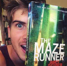 Joey Graceffa is reading one of my favorite books!!!!!!!!!!!!!!!!!!!!