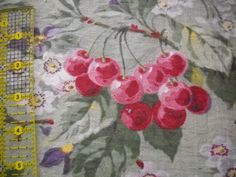1930s Vintage cotton fabric with spring flowers  by calvertcottage