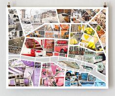 Paris map poster by The Paris Print Shop 16x20 Art Prints and Poster http://www.etsy.com/shop/TheParisPrintShop #photography #maps #paris