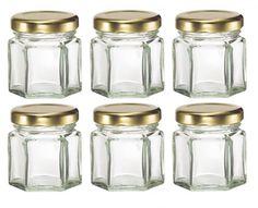 Nakpunar 30 pcs , 1.5 oz Mini Hexagon Glass Jars for Jam, Honey, Wedding Favors, Shower Favors, Baby Foods, DIY Magnetic Spice Jars -- Want additional info? Click on the image.