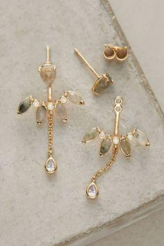 Anthropologie Marguerite Front-Back Earrings BKYJv
