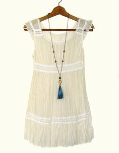 Long Tassel Necklace Tassel Boho Necklace Boho Chic Necklace