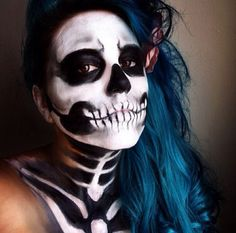 Skull makeup> Maybe for Halloween?(: