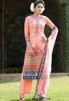 Multi colored cotton silk designer suit..@ fashionsbyindia.com #designs #indian #womens #style #cloths #stylish #casual #fashionsbyindia #punjabi #suits #wedding #chic #elegance #beauty #outfits #fantasy #embroidered #dress #PakistaniFashion #Fashion #Longsuit #FloralEmbroidery #Fashionista #Fashion2015 #IndianWear #WeddingWear #Bridesmaid #BridalWear #PartyWear #Occasion #OnlineShopping #salwar #kameez #palazzo