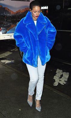 Rihanna Knows How To Brighten Up A Winter Wardrobe