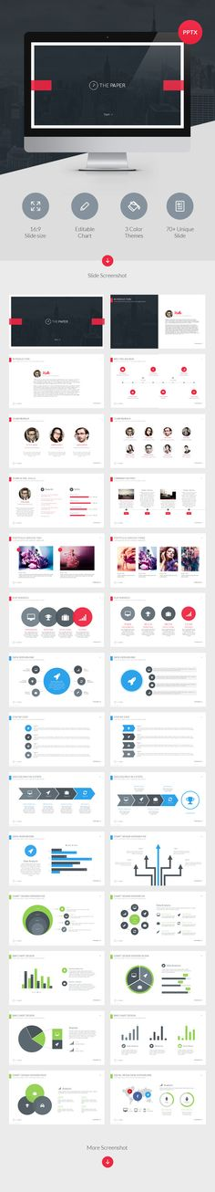 Buy The Paper - Powerpoint Presentation Template by vuuuds on GraphicRiver. The Paper Powerpoint Presentation Template for you that you need professional presentation template. All slides desig. Professional Presentation Templates, Design Presentation, Business Presentation, Graphisches Design, Slide Design, Layout Design, Clean Design, Design Elements, Webdesign Inspiration