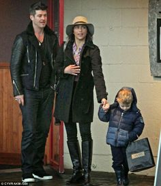 Robin Thicke and Paula Patton enjoy family day out with son Julian in Vancouver, Canada