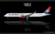 https://flic.kr/p/qzy1ib | Air SERBIA Livery concept | Air SERBIA / Airbus A350XWB /  Livery concept