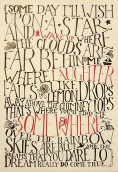 somewhere over the rainbow...dreams really do come true